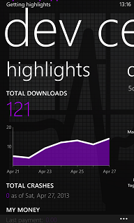 download reports for Windows Phone 8 apps