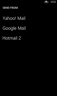 EmailComposeTask email compose task Windows Phone Launcher