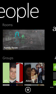 rooms for contacts Windows Phone 8 feature