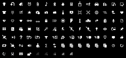 icon pack for Windows Phone 8 application bar