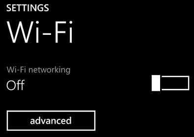 Windows Phone 8 Settings App Wi-Fi settings