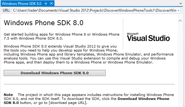 Install Windows Phone SDK to build apps for Windows Phone 8 devices
