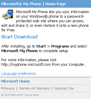 microsoft-my-phone-download-home-page