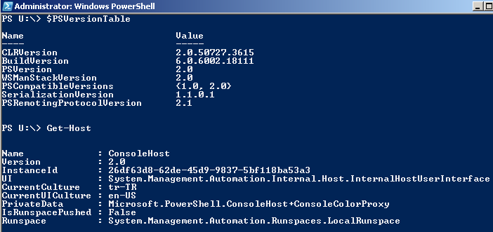 how to check installed PowerShell version