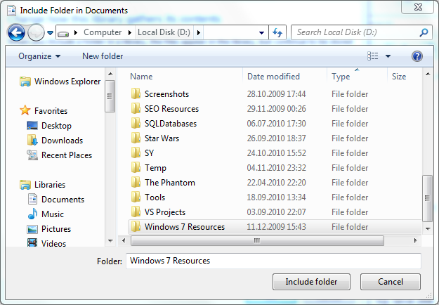 include-folder-in-windows-7-libraries