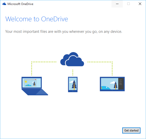 setup OneDrive on Windows 10