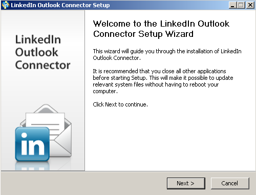 Microsoft Outlook Social Connector for LinkedIn