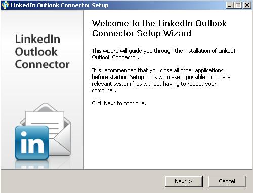 Microsoft Outlook Social Connector for LinkedIn