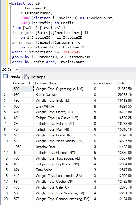 SQL Server query for Reporting Services data source