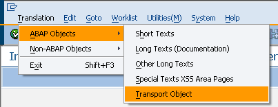 SE63 Translation for ABAP Objects
