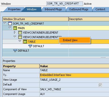 Web Dynpro component usage active component error