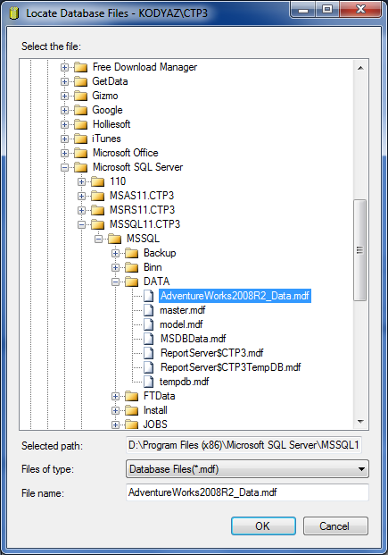 Download Sample Database AdventureWorks for SQL Server 2012