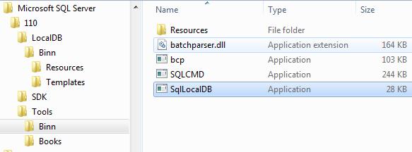 SQL Server LocalDB management utility SqlLocalDB.exe