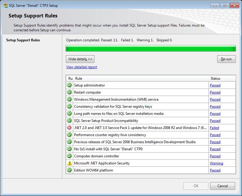 SQL Server 2012 Denali CTP3 Setup Support Rules