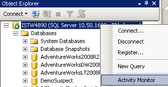 SQL Server Activity Monitor for Database Administrators