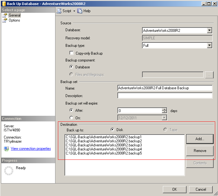 split backup in SQL Server 2008