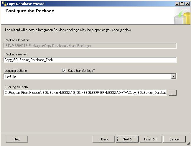 SQL Server Integration Services package properties