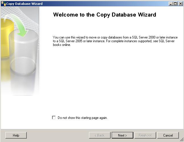 SQL Server Copy Database Wizard