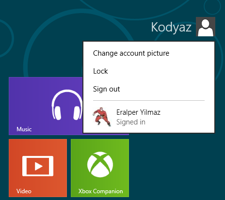 change user account image in Windows 8